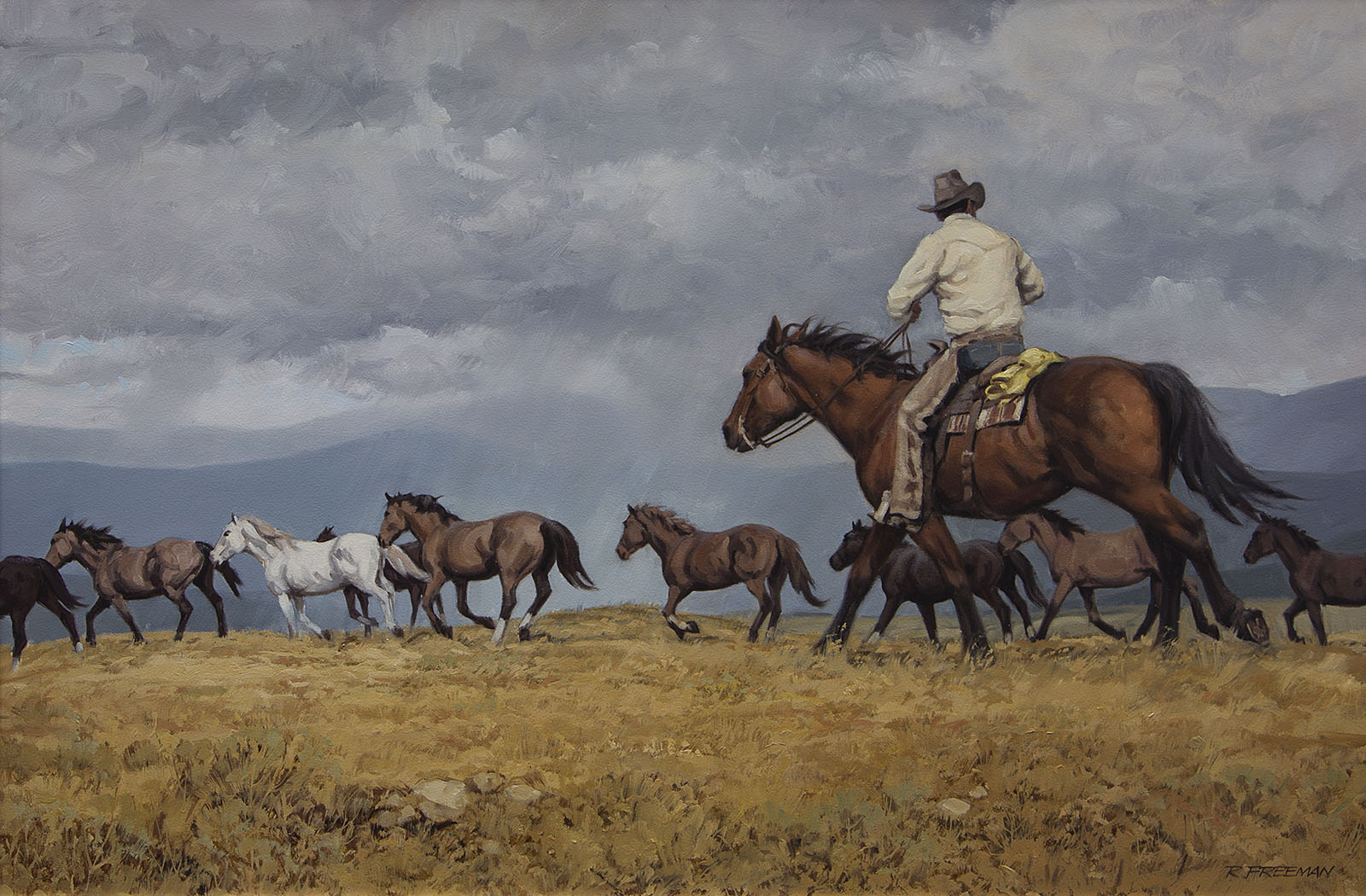Headin for the corral Richard Audley Freeman